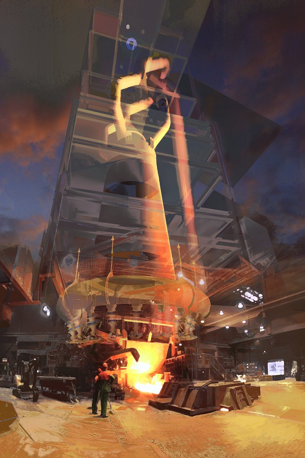 3D-Reality - Here is a Blast Furnace, as you will never see in reality